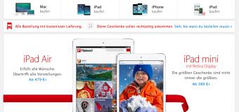 Apple Online Store bietet nun kostenfreie Lieferung an