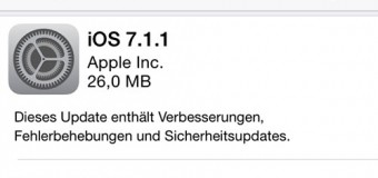Apple veröffentlicht iOS 7.1.1
